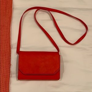 urban Outfitters bright orange/red side bag